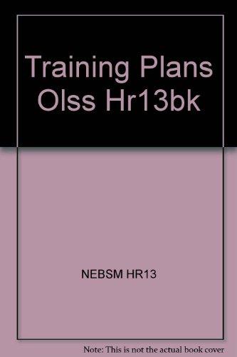 9780080415529: Training Plans Olss Hr13bk