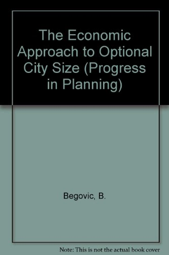 9780080418384: The Economic Approach to Optimal City Size (Ifac Symposia Series)