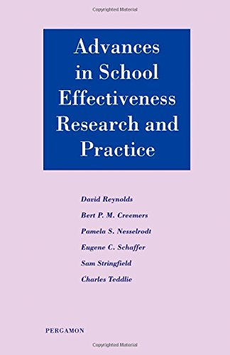 9780080423920: Advances in School Effectiveness Research and Practice