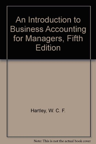 9780080424033: An Introduction to Business Accounting for Managers, Fifth Edition
