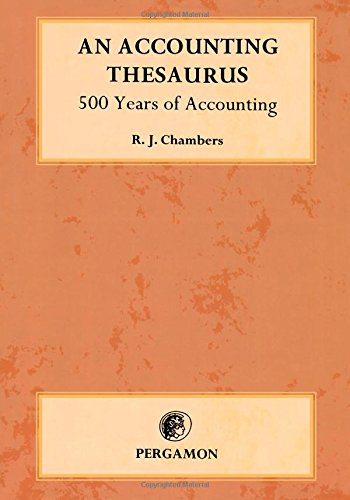 9780080425733: An Accounting Thesaurus: 500 years of accounting
