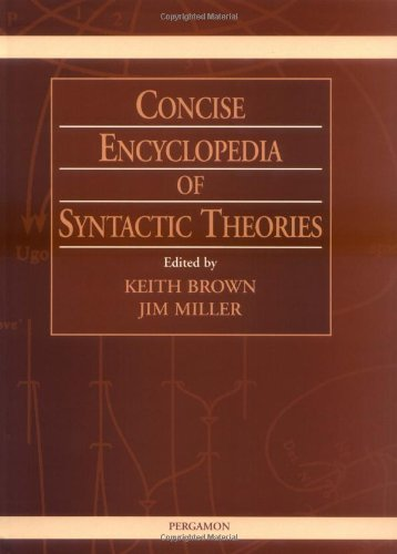 9780080427119: Concise Encyclopedia of Syntactic Theories