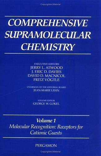 9780080427133: Molecular Recognition: Receptors for Cationic Guests: Volume 1: Vol 1 (Comprehensive Supramolecular Chemistry)
