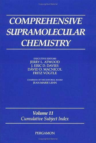 9780080427232: Cumulative Subject Index (Comprehensive Supramolecular Chemistry)