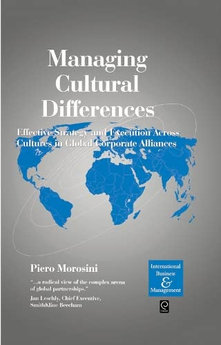 Managing Cultural Differences (International Business and Management): Morosini, Piero