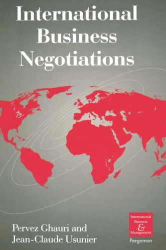 9780080427751: International Business Negotiations (Series in International Business and Economics)