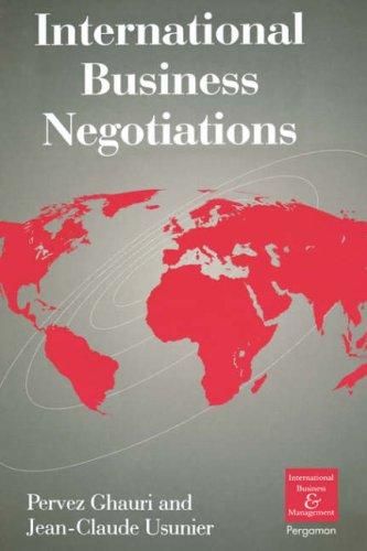 9780080427751: International Business Negotiations (International Business and Management)