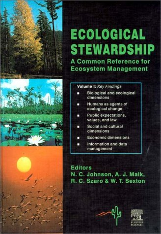 9780080428161: Ecological Stewardship: A Common Reference for Ecosystem Management: Volume I: Key Findings & Volumes I - III CD ROM (v. 1)