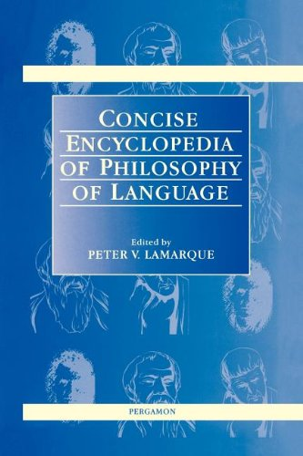 9780080429915: Concise Encyclopedia Of Philosophy Of Language