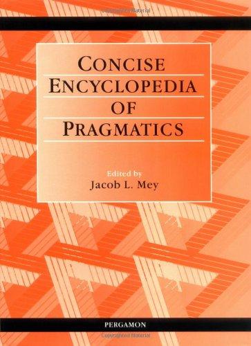 9780080429922: Concise Encyclopedia of Pragmatics