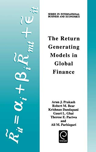 9780080430584: The Return Generating Models in Global Finance (Series in International Business and Economics) (Series in International Business and Economics)