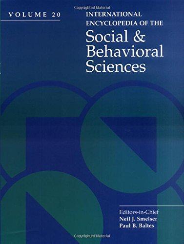 International Encyclopedia of Social & Behavioral Sciences: Smelser N.J. &