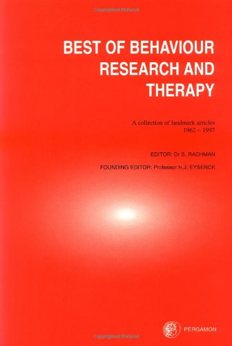 9780080430782: The Best of Behaviour Research and Therapy