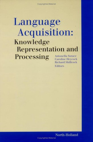 9780080433707: Language Acquisition: Knowledge Representation and Processing