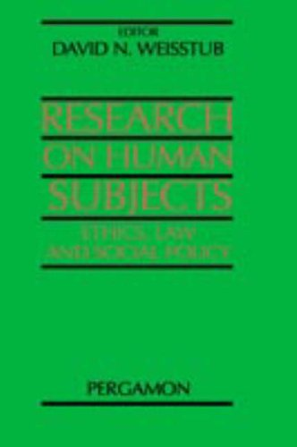 9780080434346: Research on Human Subjects: Ethics, Law and Social Policy
