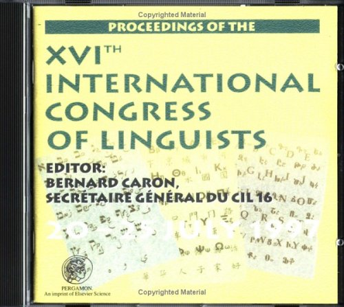9780080434384: Proceedings of the 16th International Congress of Linguists