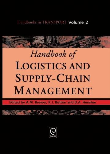 9780080435930: Handbook of Logistics and Supply-Chain Management (Handbooks in Transport)