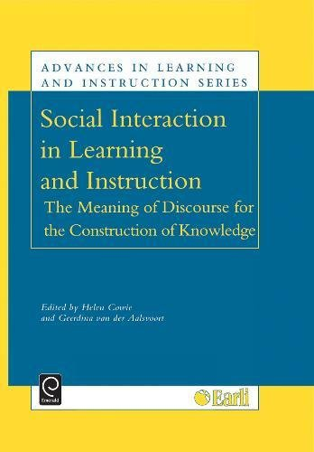 9780080435978: Social Interaction in Learning and Instruction (Advances in Learning and Instruction) (Advances in Learning and Instruction Series) (v. 9)