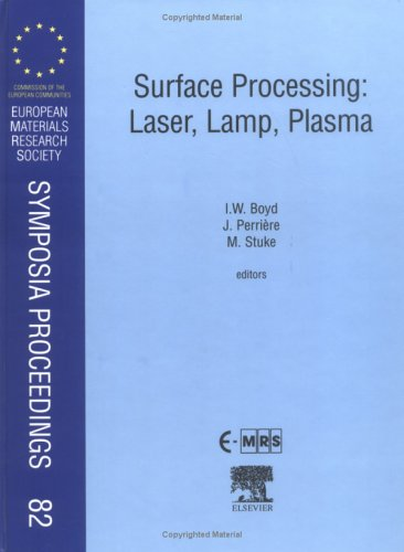 9780080436104: Surface Processing: Laser, Lamp, Plasma, Volume 82 (European Materials Research Society Symposia Proceedings)
