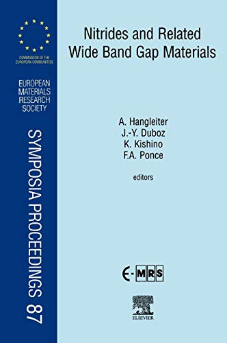 9780080436159: Nitrides and Related Wide Band Gap Materials, Volume 87 (European Materials Research Society Symposia Proceedings)