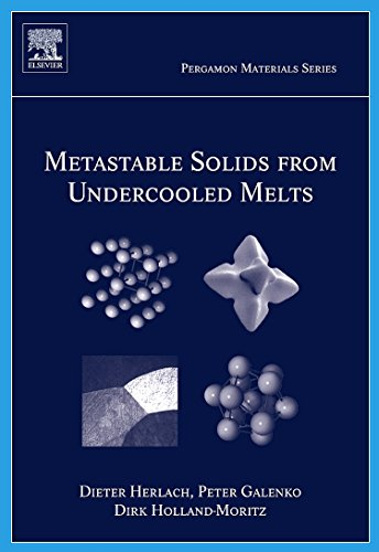 9780080436388: Metastable Solids from Undercooled Melts, Volume 10 (Pergamon Materials Series)