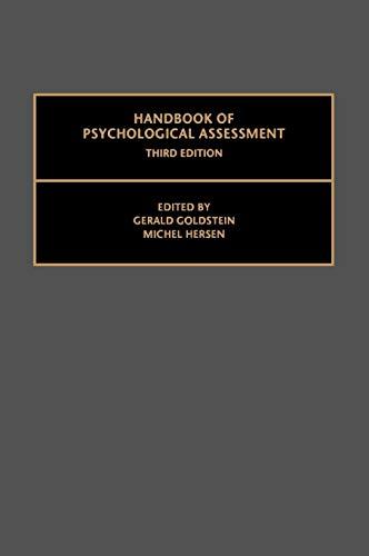 9780080436456: Handbook of Psychological Assessment, Third Edition