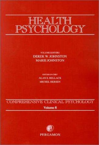 9780080439341: Health Psychology: Comprehensive Clinical Psychology, Volume 8