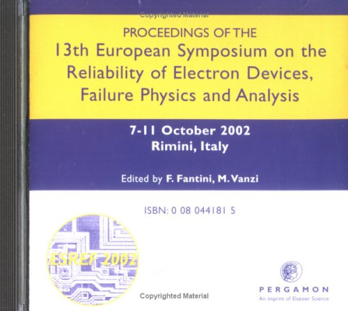 9780080441818: Proceedings of the 13th European Symposium on the Reliability of Electron Devices, Failure Physics and Analysis: Proceedings of the 13th European ... (ESREF 2002) Rimini, Italy 7-11 October 2002