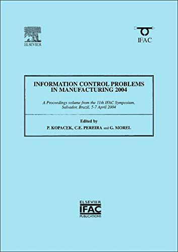 Information Control Problems in Manufacturing 2004 (2-volume: Kopacek, Peter (Editor)/