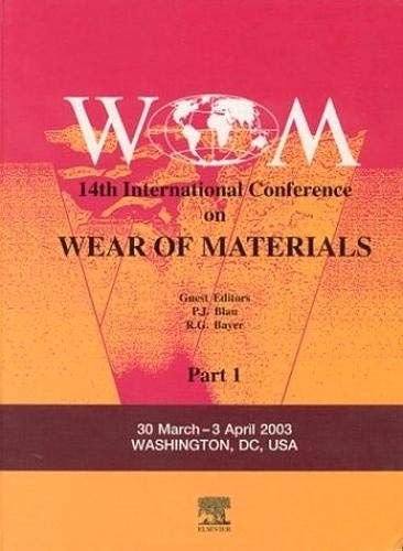 9780080443010: Wear of Materials,: 14th International Conference: 255
