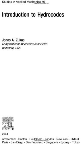9780080443485: Introduction to Hydrocodes (Studies in Applied Mechanics)
