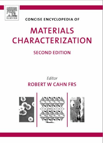 9780080445472: Concise Encyclopedia of Materials Characterization (Advances in Materials Science and Engineering)
