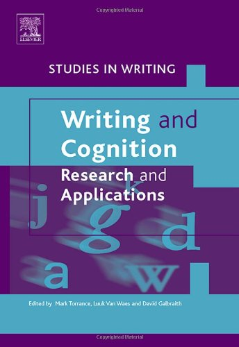 9780080450940: Writing and Cognition: Research and Applications (Studies in Writing)