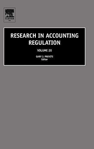 9780080453934: Research in Accounting Regulation, Volume 20