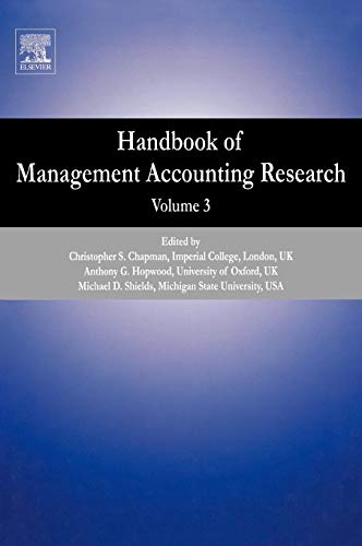 9780080554501: Handbook of Management Accounting Research, Vol. 3