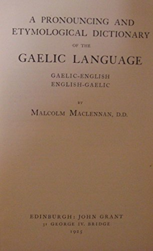 9780080925714: Maclennan's Gaelic-English English-Gaelic Dictionary