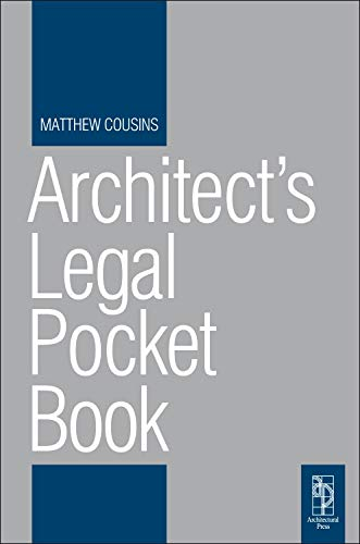9780080966038: Architect's Legal Pocket Book (Routledge Pocket Books)
