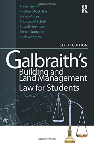 9780080966922: Galbraith's Building and Land Management Law for Students