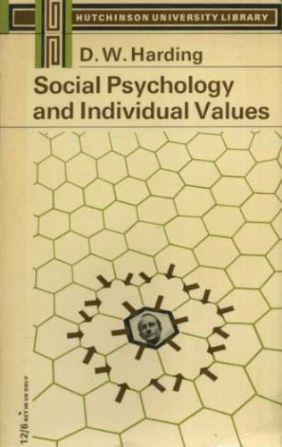 9780090426324: Social psychology and individual values