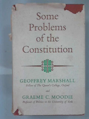 9780090532438: Some Problems of the Constitution