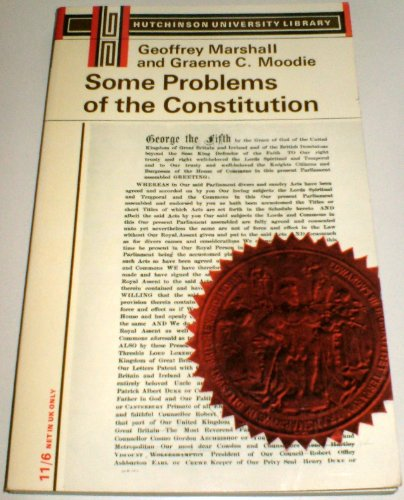 9780090532445: Some Problems Of The Constitution