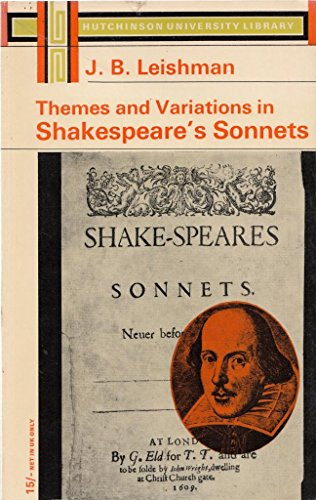9780090598120: Themes and Variations in Shakespeares Sonnets