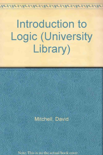 9780090646333: Introduction to Logic (University Library)