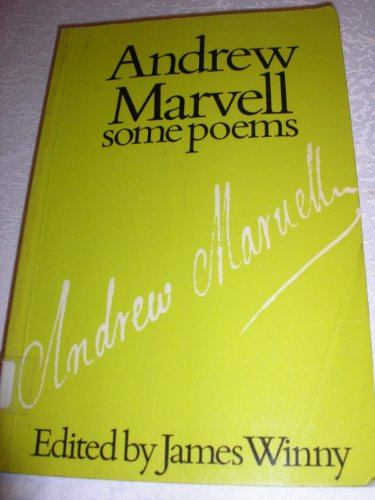 9780090653010: SOME POEMS BY ANDREW MARVELL