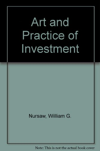 9780090669424: Art and Practice of Investment