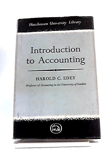 9780090674015: Introduction to Accounting (Univ. Lib.)