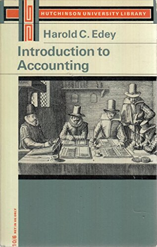 9780090674039: INTRODUCTION TO ACCOUNTING (UNIV. LIB.)