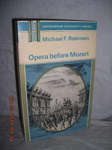 9780090804221: Opera Before Mozart (University Library)