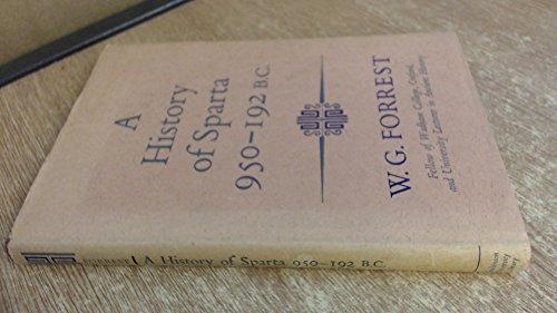 9780090878406: History of Sparta, 950 B.C.-192 B.C. (University Library)
