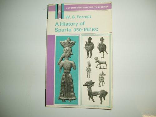 9780090878413: History of Sparta, 950 BC-192 BC (Univ. Lib.)